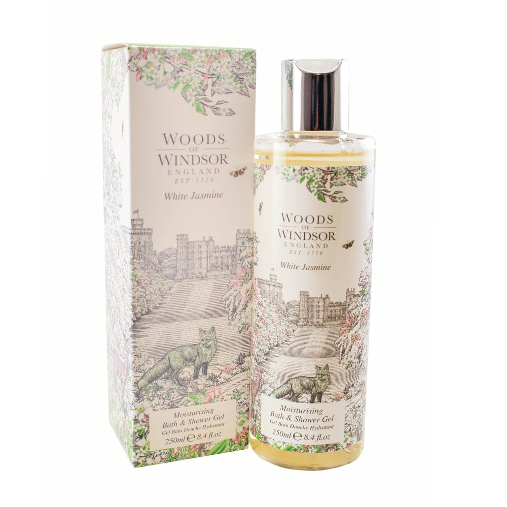 Woods Of Windsor White Jasmine Moisturizing Bath & Shower Gel for Women, 8.4 fl. Oz. W180028-6