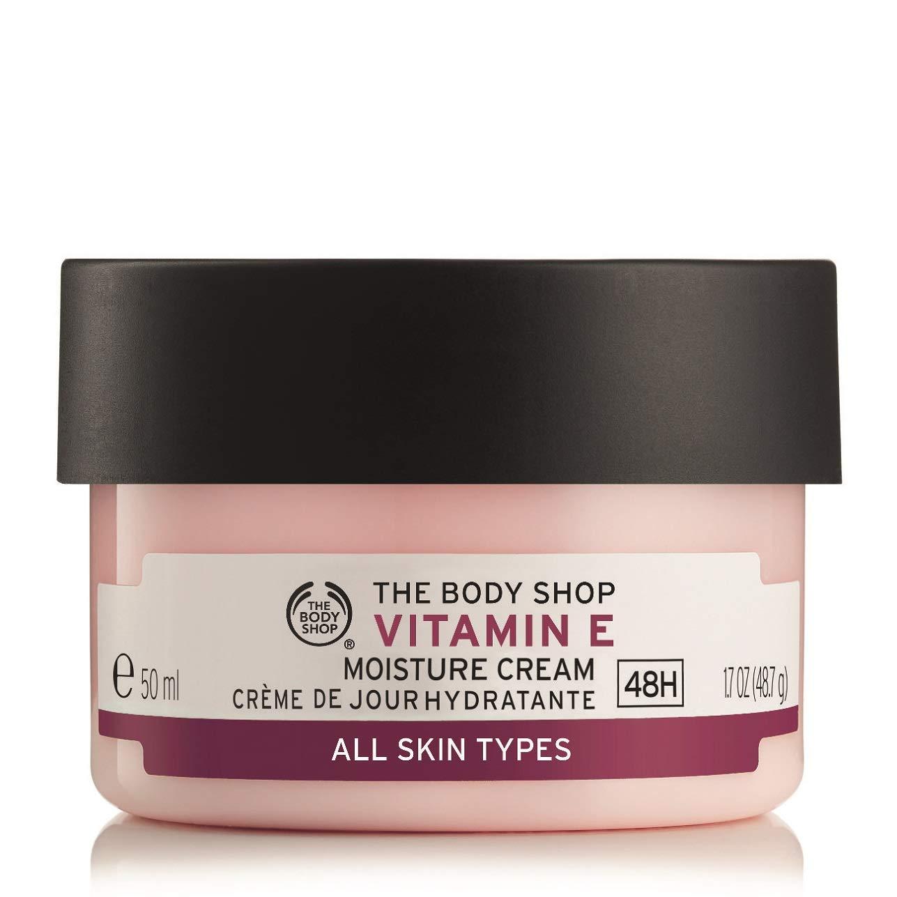 The Body Shop Vitamin E Moisture Cream, Paraben-Free Facial Cream, 1.7 Oz