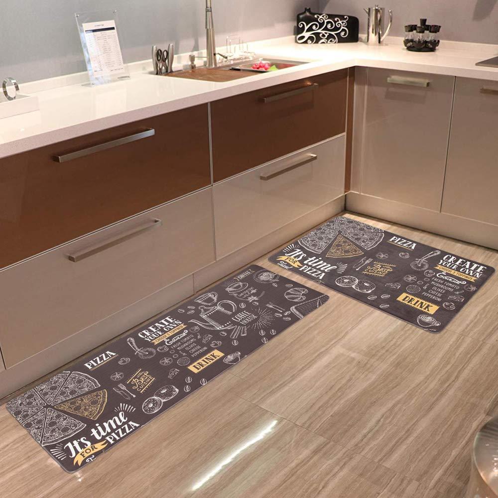 HEBE Anti Fatigue Kitchen Floor Mat Set of 9 Cushioned Comfort ...