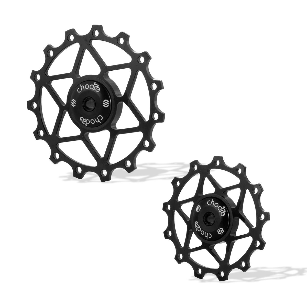 Chooee Black 13T Rear Derailleur Jockey Wheel Pulley Ceramic Bearing Shimano SRAM by Chooee