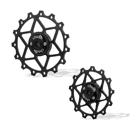 516343fe40c Chooee Black Ceramic Bearing 15T Rear Derailleur Jockey Wheel Pulley  Shimano SRAM