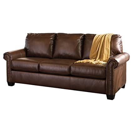 Signature Design By Ashley Lottie DuraBlend Sleeper Sofa, Queen, Chocolate