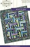 Road to Bali Quilt Pattern No. LEG9301 by Legacy Patterns Jelly Roll 2.5'' Strip & Batik Friendly 54'' x 64'' Finished Size