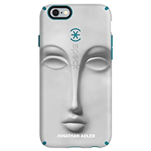 Speck Products CandyShell Inked Jonathan Adler Cell Phone Case for iPhone 6 Plus/6S Plus, DoraMaar/Peacock Matte
