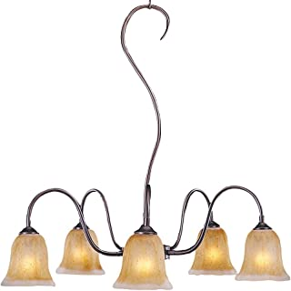 product image for HA Framburg 9355MB Cottage 5 Light Chandeliers in Mahogany Bronze