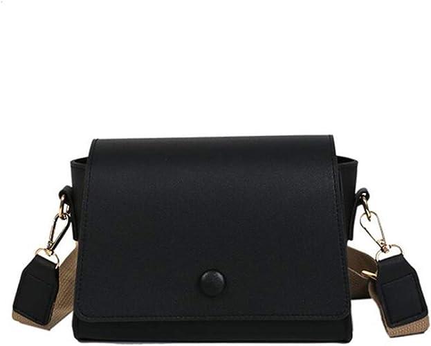 Women Wide Strap High Quality Pu Shoulder Bag Fashion Design Girl Crossbody Bag