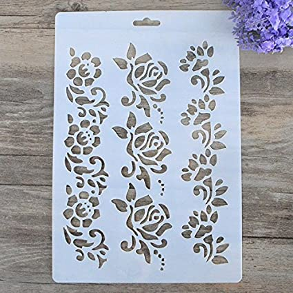 Stencils Para Paredes Pintura Scrapbooking DIY Artesanato Flor Camadas Stamping Selos Album Decorativa Embossing Cartões de