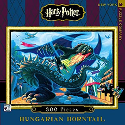 New York Puzzle Company - Harry Potter Hungarian Horntail - 300 Piece Jigsaw Puzzle: Toys & Games
