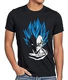 style3 Super Vegeta Blue God Modo Camiseta para Hombre T-Shirt