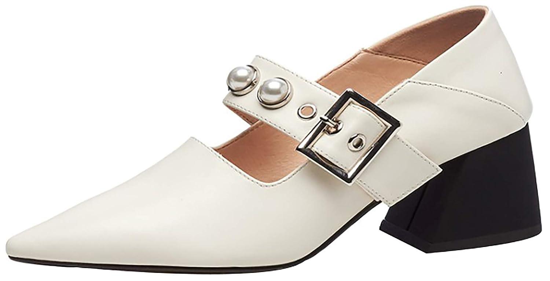 Calaier Damen Qaxcx 9CM Keilabsatz Ziehen Sie an Pumps Schuhe