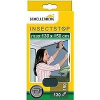 Schellenberg 50715 Insektenschutz ohne Bohren Fliegengitter für Fenster, Schwarz, 130 x 150 cm