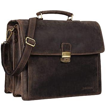 c59ddd65c07bf STILORD  Noel  Aktentasche Leder Herren Vintage groß Klassische  Arbeitstasche Bürotasche Umhängetasche Dokumententasche mit Laptopfach