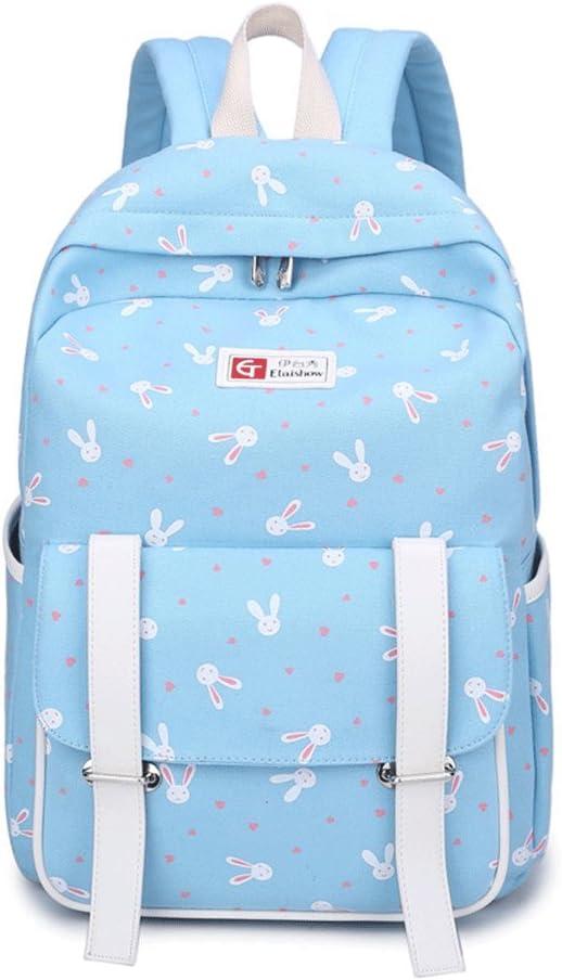 GAOQIANGFENG new fashionFashion Backpack Casual Women Shoulder Bag Pack Handbag Poke Tote,Wathet,304112CM