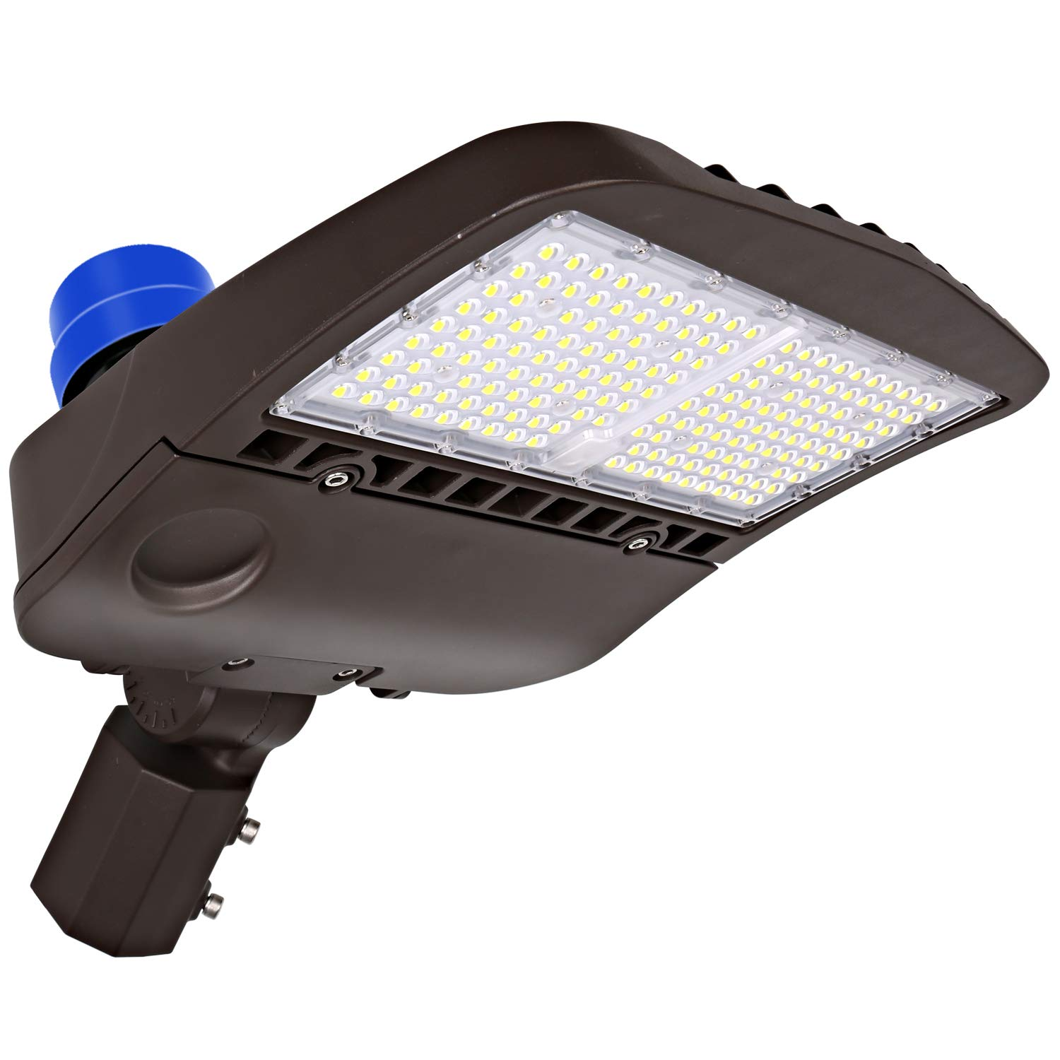 Hykolity 150W LED Parking Lot Light with Photocell,19500lm 5000K Waterproof LED Shoebox Fixture, Outdoor Pole Mount Light for Large Area Lighting [400w Equivalent] Slip Fitter DLC Complied