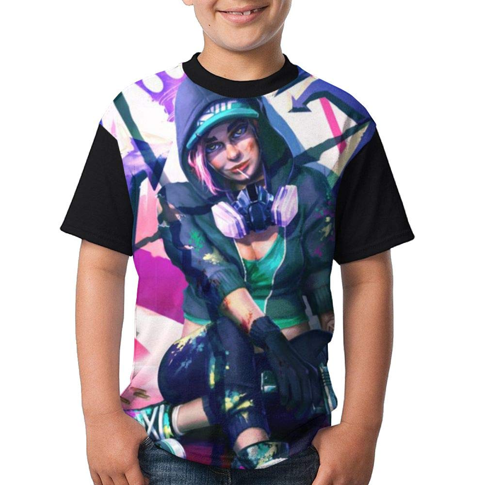 Cool Rap Girl Child Boy's Girl Short Sleeve Crew Neck Funny Tee T-Shirt M
