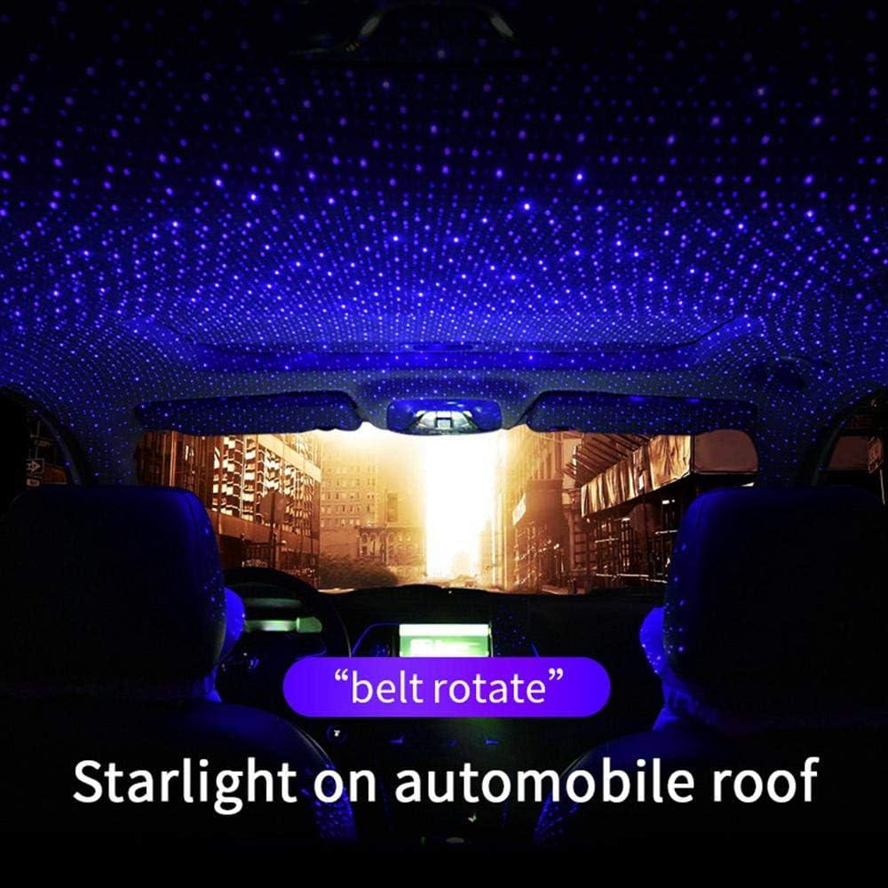 FOONEE 2605//5000 Auto-Umgebungssternlicht Blau//Steuerung Auto-Atmosph/ären-Lichtprojektor Dekorativer Armlehnen-Kasten-Stern-romantische Selbstdach-Projektion USB-100mw LED F/ür Auto//Haus//Partei