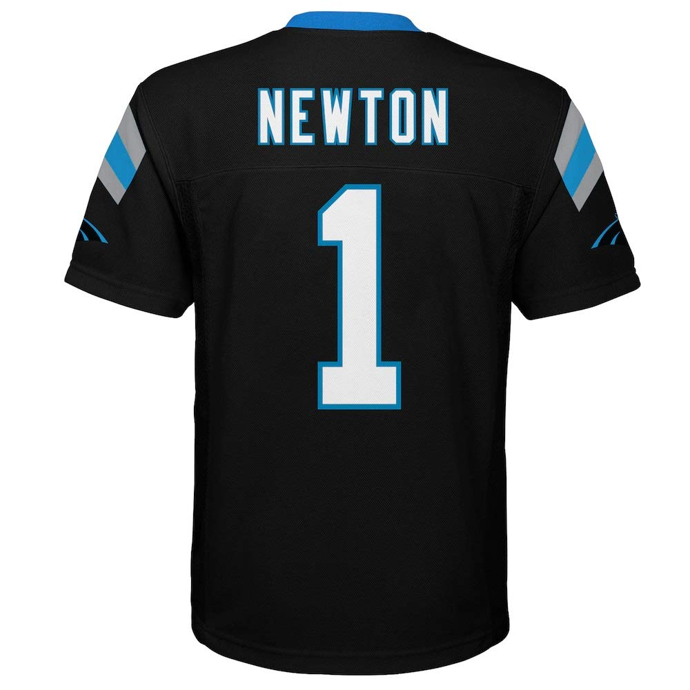 42343d82 Amazon.com : Outerstuff Cam Newton Carolina Panthers #1 NFL Youth Mid-Tier  Jersey Black : Clothing