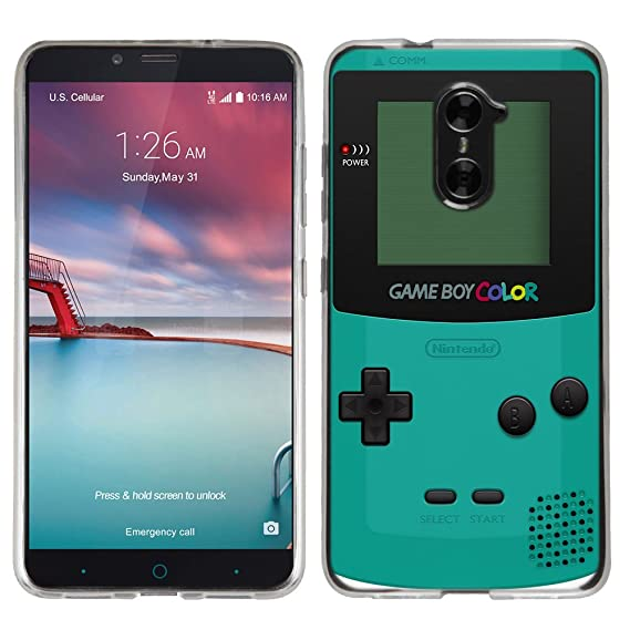 info for 03146 a7ae5 ZTE ZMAX Pro case - [GameBoy color Teal] (Crystal Clear) PaletteShield Soft  Flexible TPU gel skin phone cover (fit ZTE ZMAX Pro/ Grand X Max 2/ ...