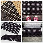 Status PVC Rubber Outdoor Door Mat for Home/Bathroom/Bedroom/Office/Main Door/Rainy Season (41×61 cm,Black)-Pack of 1