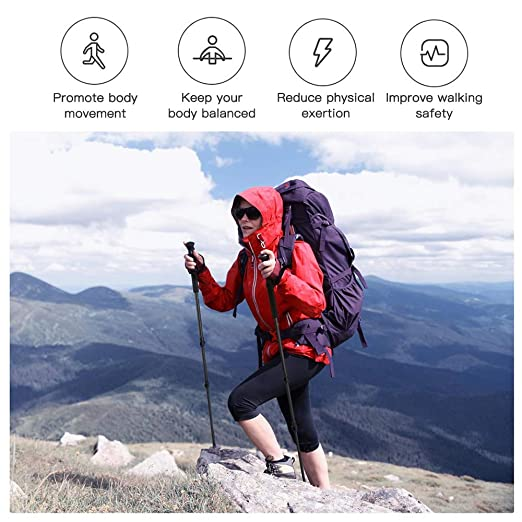 Amazon.com: EdwayBuy Trekking Poles-One Pack Lightweight ...
