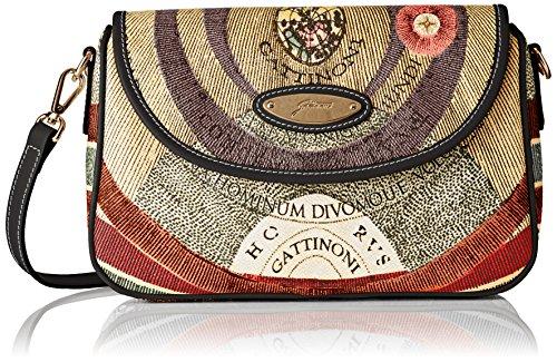 Gattinoni Gacpu0000120, Borsa a Tracolla Donna, 5x17x27 cm (W x H x L) Multicolore (Classico)
