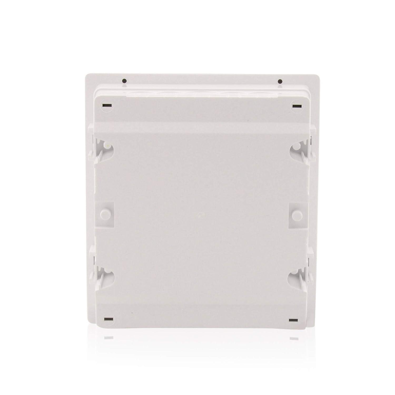 Boitier /à fusibles Salle humide Encastr/é Distributeur 1/rang/ée jusqu/à 8 modules Porte transparente IP40 Bo/îtier