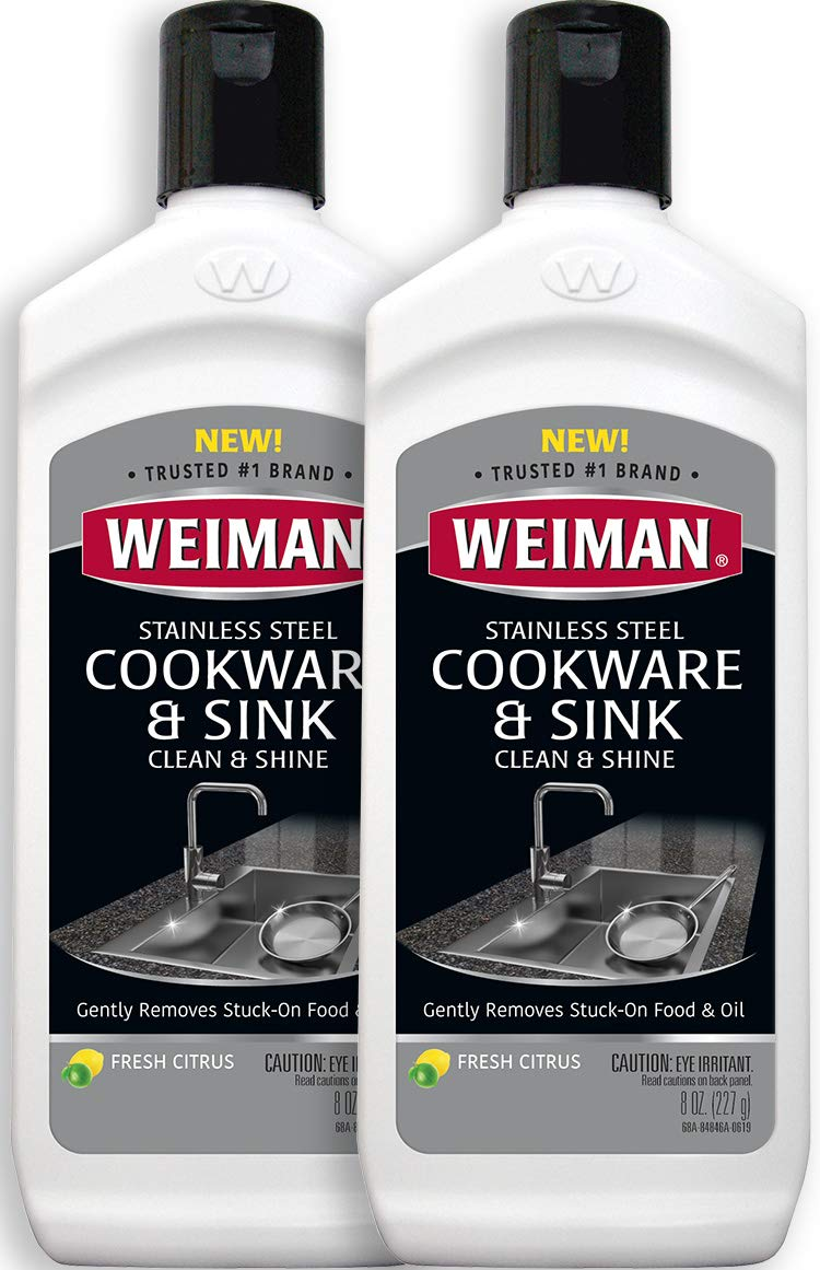 Weiman Stainless Steel Sink and Cookware Cleaner and Polish - 2 Pack