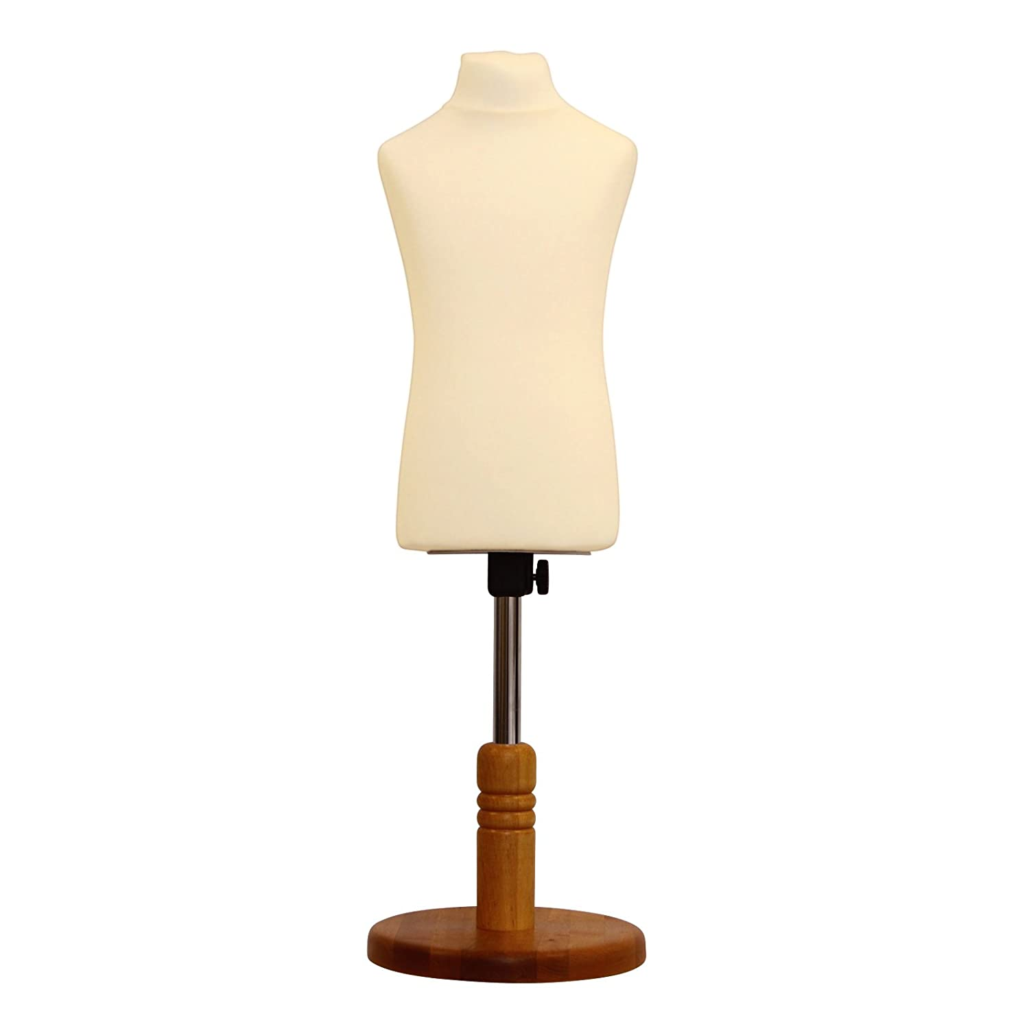 Child Kid Tailors Dummy Cream Age 2/4 Dressmakers Fashion Students Mannequin Display Bust With A Light Wood Base ANKMARKETING LTD