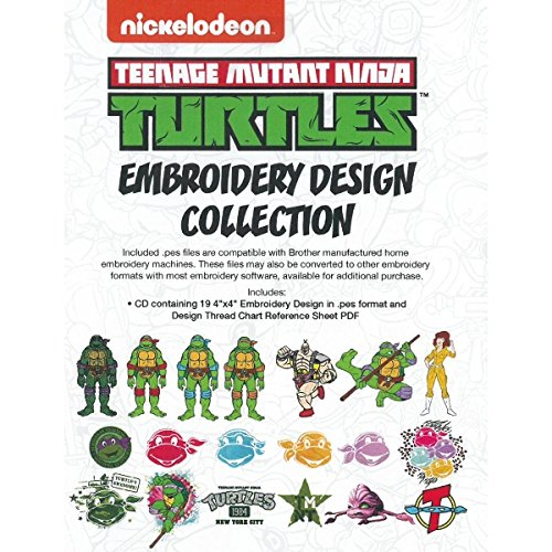 Nickelodeon SANICKNT Teenage Mutant Ninja Turtles Embroidery Design Collection CD (Brother Embroidery Cds compare prices)