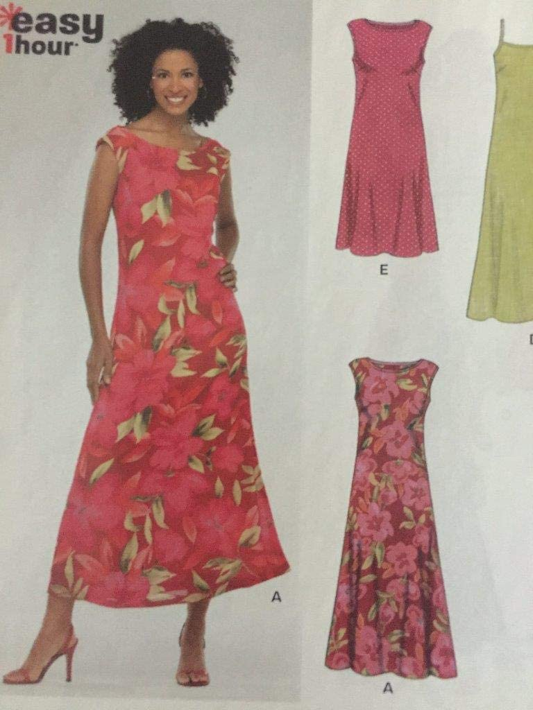 New Look Sewing Pattern 6347 Misses Dresses, Size A (10-12-14-16-18-20-22)