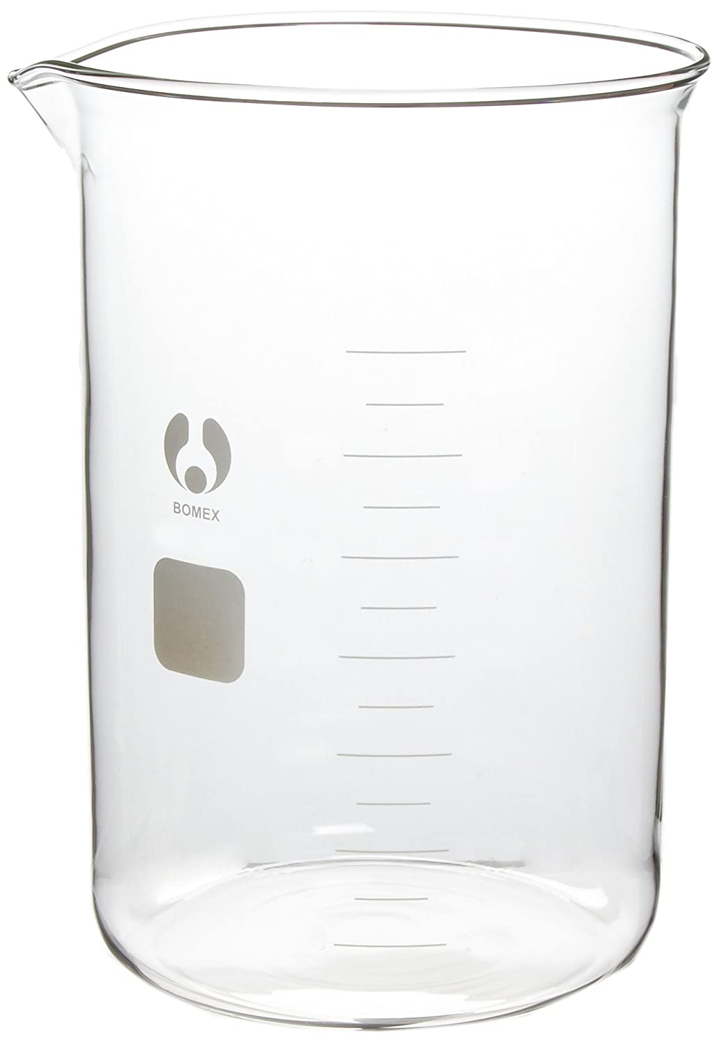 American Educational Clear Borosilicate Glass 4000mL Bomex Griffin Beaker 7-444000-A