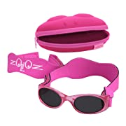 Tuga Baby/Toddler UV 400 Sunglasses w/ Two Straps, Pink