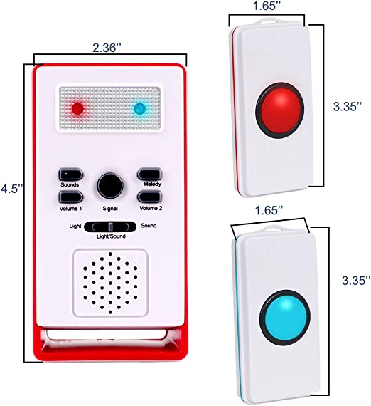 Wireless Caregiver Pager Call Button Personal Emergency Alarm ...