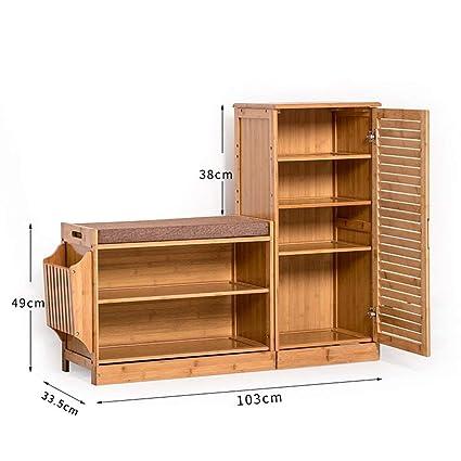 Amazoncom Pllp Household Wooden Shoe Rack Shoe Cabinet Shoe