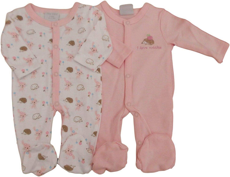 con Etiquetas. Tiny Prematuro Preemie Bebé Niña 2 Pack de Rosa Pijama I Love Cuddles
