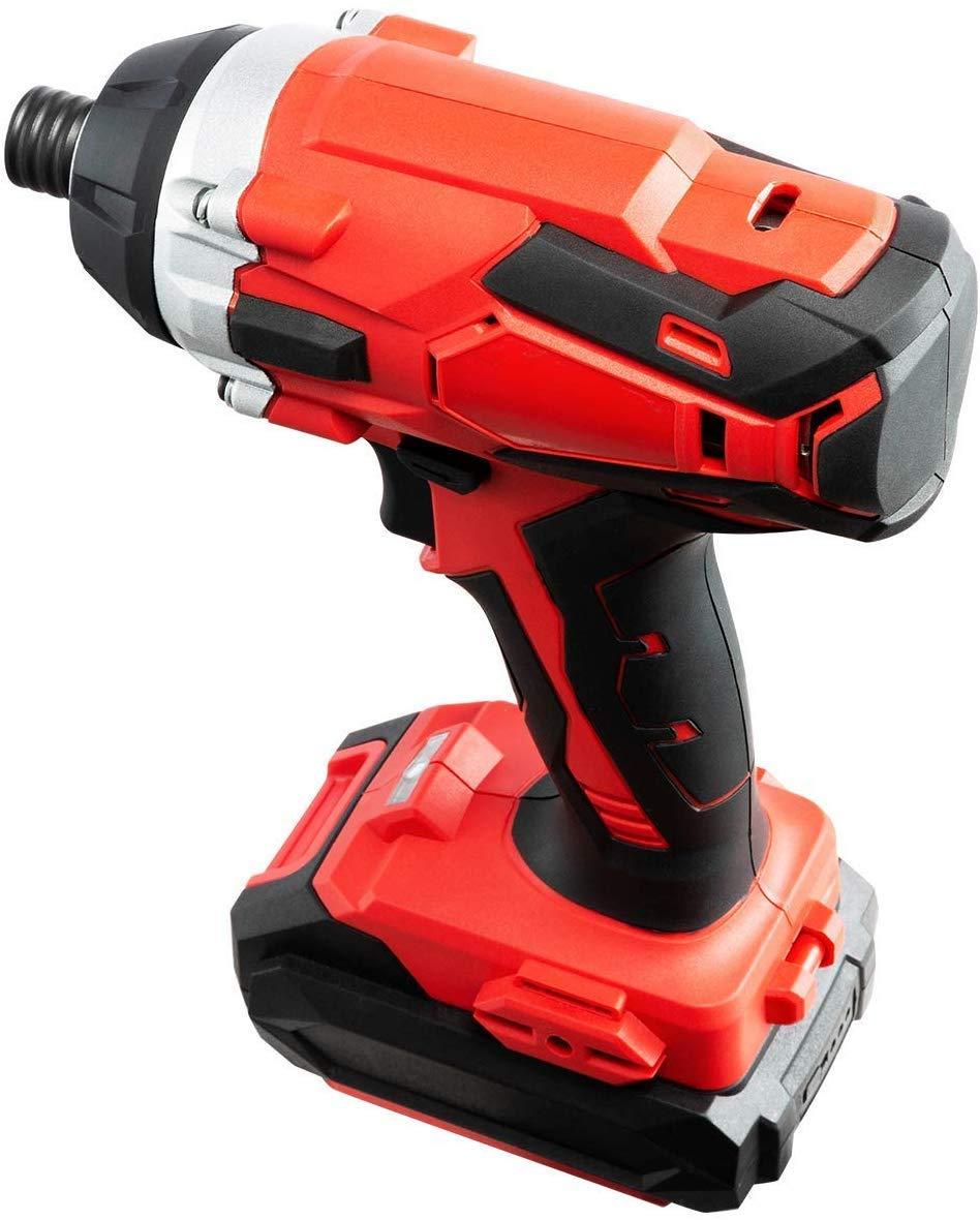 cargador r/ápido de 1 hora DOEWORKS 18V Taladro atornillador inal/ámbrico de iones de litio MAX 2.0Ah bater/ía y cargador incluidos