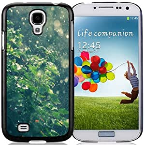 Beautiful Unique Designed Samsung Galaxy S4 I9500 i337 M919 i545 r970 l720 Phone Case With Summer Rain Water Drops Bokeh_Black Phone Case