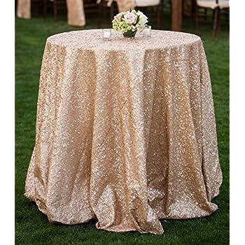 Superb ShiDianYi Champagne Blush Sparkly Sequin Tablecloth For Wedding (108u0027u0027 ...
