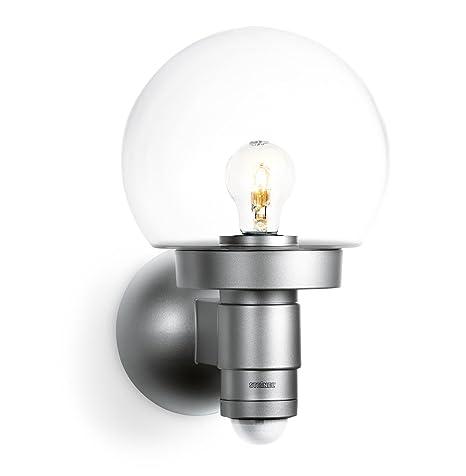 Steinel 657512 L 115 S Lámpara Sensor para el exterior con cristal, plata, con