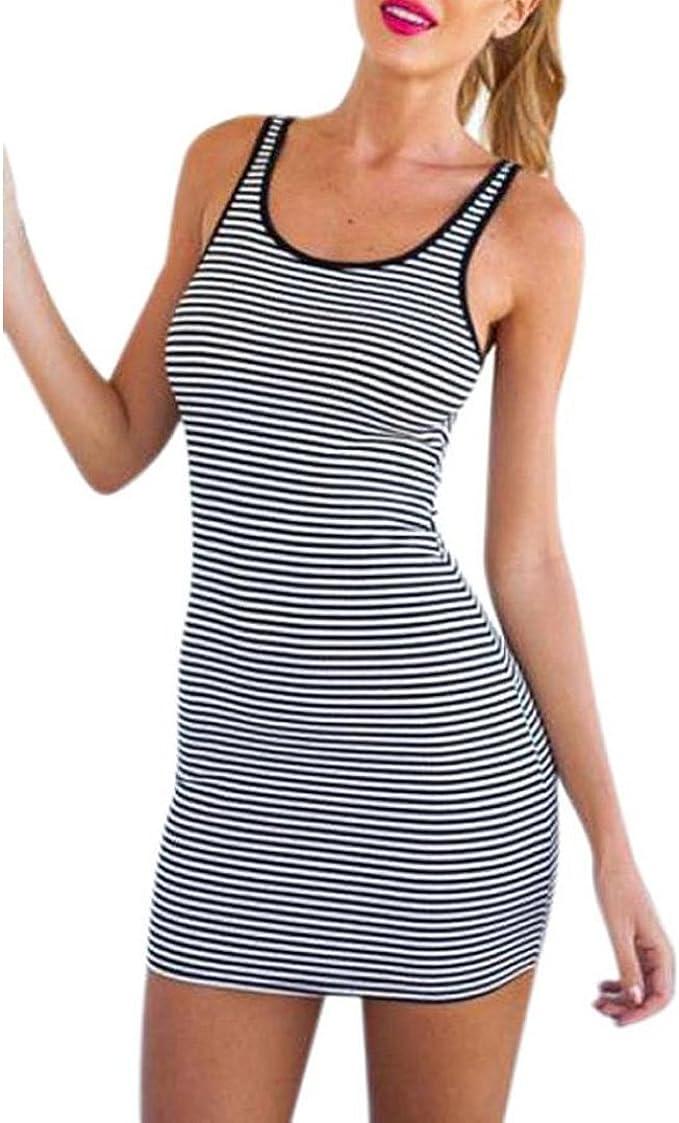 Kleid damen mini Kolylong Frauen Sommer Baumwollmischung