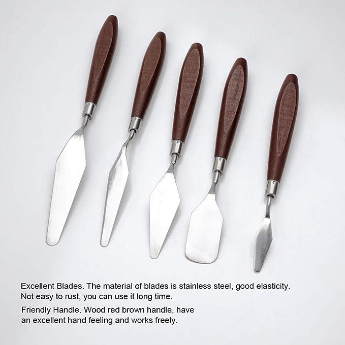 Amazon.com: 5 piezas cuchillos de pintura espátula paleta ...
