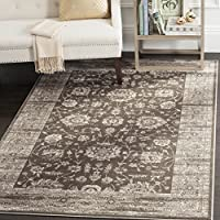 Safavieh Vintage Collection VTG431B Transitional Oriental Brown and Ivory Distressed Area Rug (51 x 77)