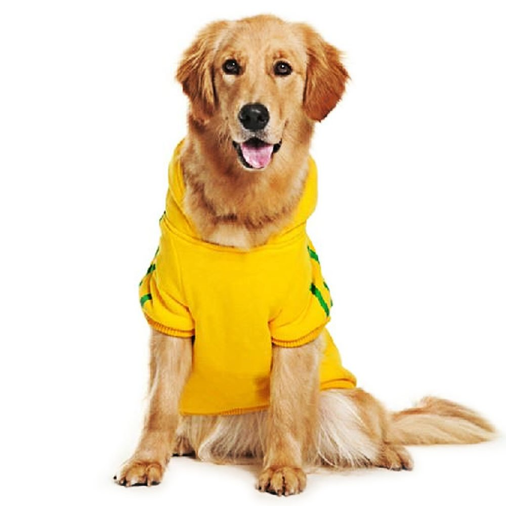 Amazon.com : Eastlion adidog Large Dog Warm Hoodies Coat Clothes Sweater Pet Puppy T Shirt Yellow 5XL : Pet Supplies