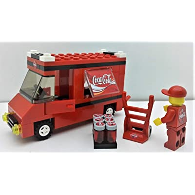 Building Bricks Toys Custom. City Vehicle COCA COLA Set. / Truck case Minifigure Hand Truck: Toys & Games