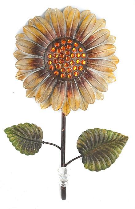 Amazon.com: Juliana Home Living Coat Hook Sunflower Metal Wall Art ...