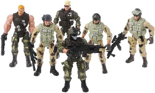 ZJL220 Figura de acción Soldado del ejército Juguete con Arma Figuras Militares Niño Juguete: Amazon.es: Hogar