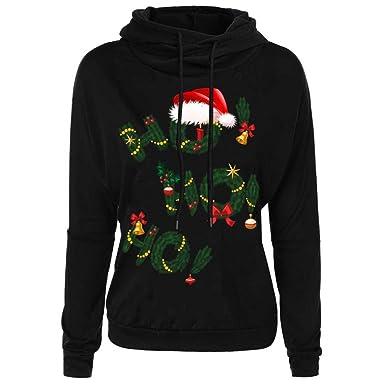 Christmas Hoodies Kangrun Printed Sweatshirt For Women Slogan Tops Cute