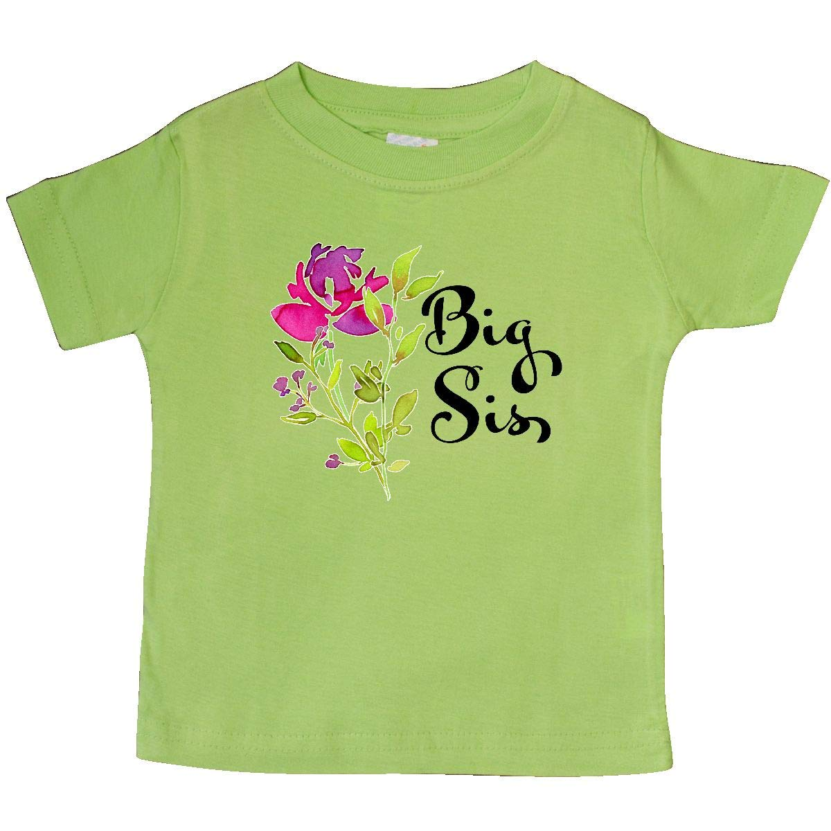 inktastic Big Sis Pretty Flower Baby T-Shirt