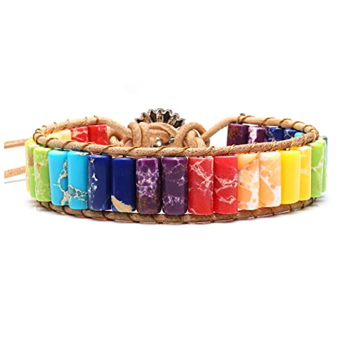 Bracelets & Bangles Chic Hand-knitted Square Color Natural Stone Beaded Bracelet Womens Fashion Jewelry To Reduce Body Weight And Prolong Life Jewelry & Accessories