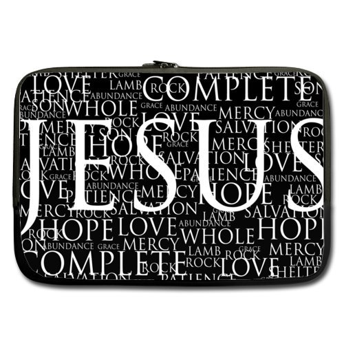 WECE Jesus Christ Christian Quotes Theme Soft Water-proof Neoprene Carrying Case Sleeve Bag For Macbook, Macbook Air/Pro 13 Inch All 13